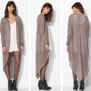 Urban outfitters white duster cardigan knit xs tan